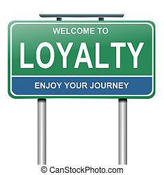 Loyalty concept. - Illustration depicting a blue and green ...