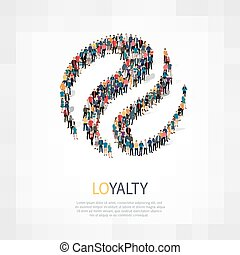 loyalty people symbol - Isometric set of styles, loyalty ,...