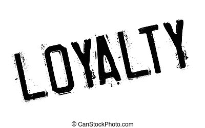 Loyalty rubber stamp