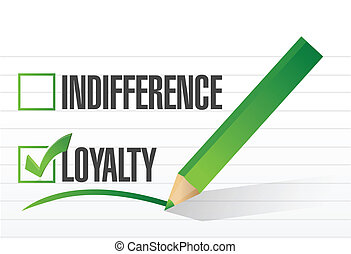 loyalty selected illustration design over a notepad paper