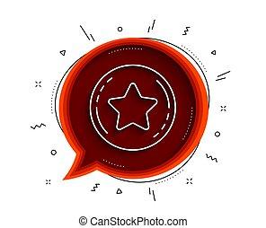 Loyalty star line icon. Bonus points. Discount program. Vector