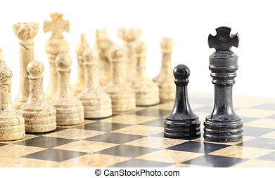Loyalty to the King - A pawn and his king face off against...
