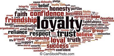 Loyalty word cloud concept. Vector illustration