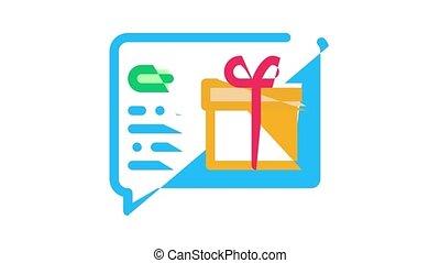 loyauté, icône, client, programme, animation