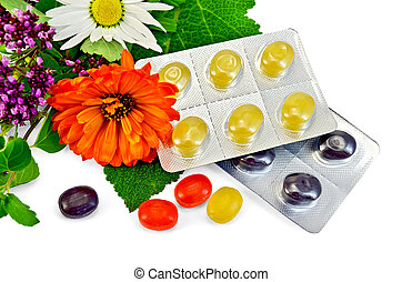 Lozenges cough multicolored with herbs - Lozenges cough ...