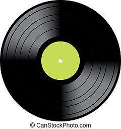 Lp Vinyl Disc Vintage Record - Vector illustration image of...