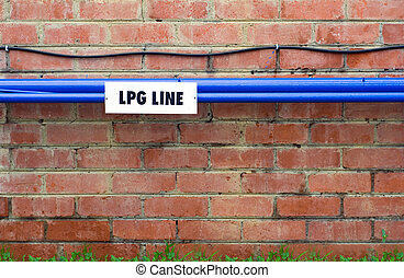 LPG Gas Line on wall