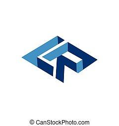 LR Initial Letter three dimension Logo vector element