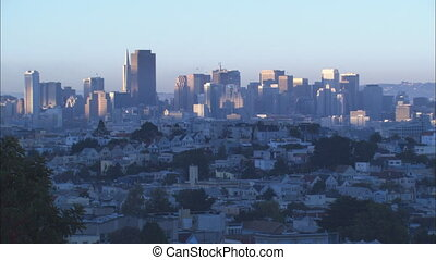 LS Downtown SF sunset - LS of Downtown San Francisco at...