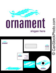 Ornament Logo Design and corporate identity package including logo, letterhead, business card, envelope and cd label.