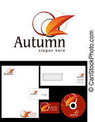 Autumn Logo Design and corporate identity package including logo, letterhead, business card, envelope and cd label.