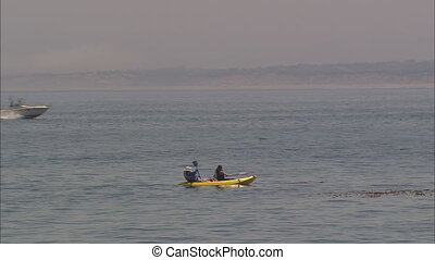 LS Kayakers Sport Fishers 2 - LS of tandem kayakers on...
