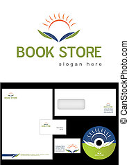LS_G01_011 - Book Store Logo Design and corporate identity...