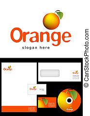 LS_G01_068 - Orange Logo Design and corporate identity...