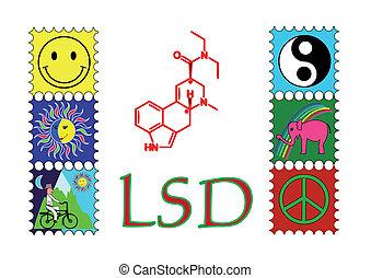 LSD - Flyer or poster looks lsd chemical.