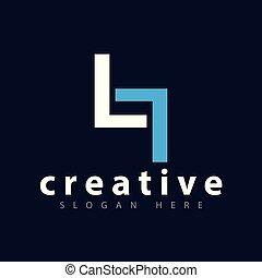 LT Initial letter logo vector