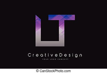 LT L T Letter Logo Design. Creative Icon Modern Letters...