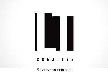 LT L T White Letter Logo Design with Black Square. - LT L T...