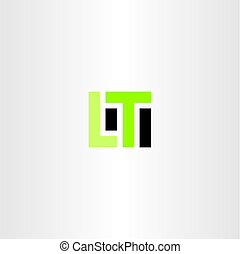 lt letter l t logo icon vector design