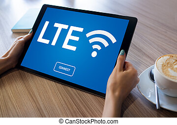LTE, 4G, 5G Fast wireless internet connection,...