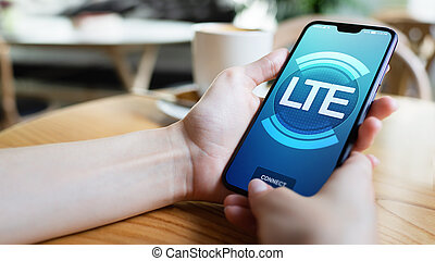 LTE, 5G, Mobile technology and telecommunication concept on...