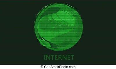lte, moniteur, la terre, vert