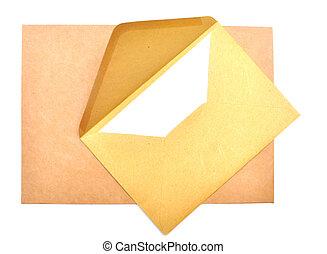 ltter, papier, et, enveloppe