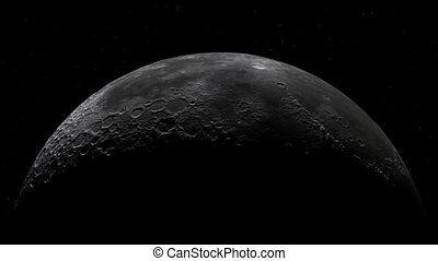 lua cheia, fiar, realístico, com, estrelas