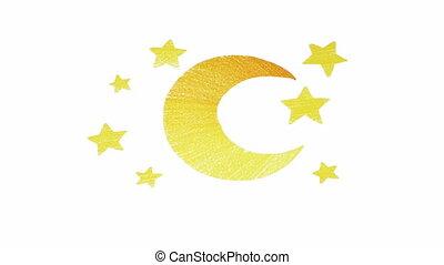 lua, e, estrela, volta