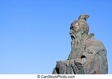 Ancient Chinese Confucianism master sculpture - Luannan, ...