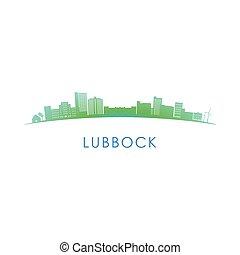 Lubbock skyline silhouette.
