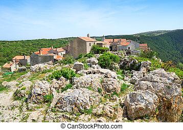 lubenice, 古代, 島, cres, croatia, 村