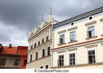 Lublin, city in Poland. Old town square view.