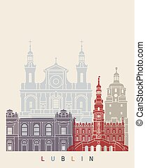 Lublin skyline poster