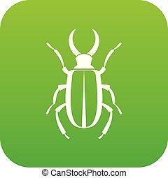 lucanus, icono, verde, cervus, digital