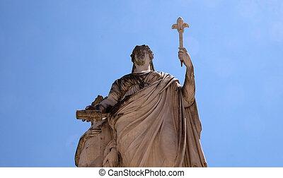 lucca, スペイン, duchess, イタリア, louisa, 像, lucca, マリア