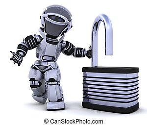 lucchetto, robot