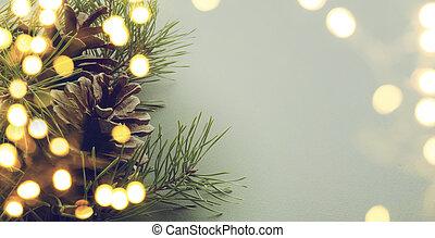 luce, albero, natale