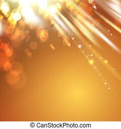 luce arancia, astratto, fondo.