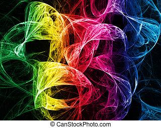 luce, astratto, colorito, fondo