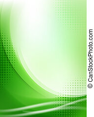 luce, astratto, halftone, sfondo verde, fluente