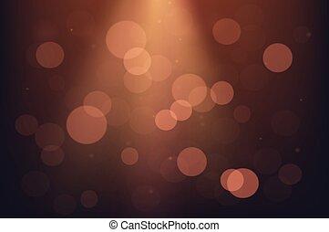 luce, astratto, illustrazione, fondo., bokeh, vettore