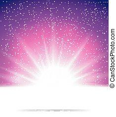 luce, astratto, magia, fondo