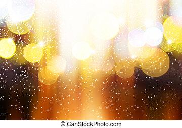 luce, astratto, neve, fondo, sfocato