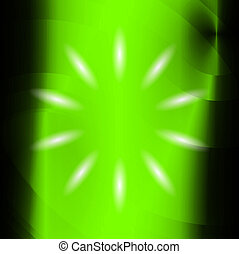 luce, astratto, sfondo verde, raggio
