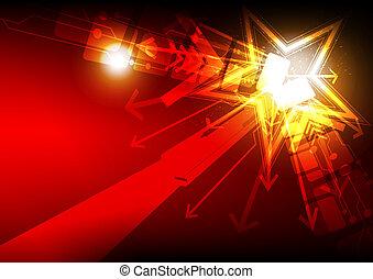 luce, astratto, stella