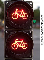 luce, bicycles, traffico, rosso