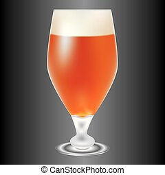 luce, birra, amber-colored