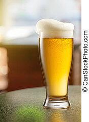 luce, birra, pub, vetro
