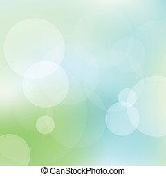 luce blu, astratto, vettore, sfondo verde